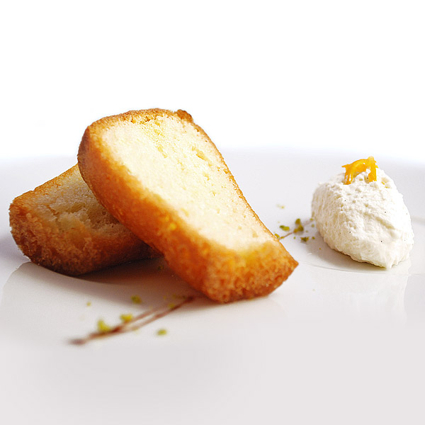 Rum baba, whipped cream